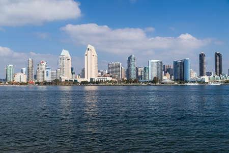 san: Skyline of San Diego downtown by day