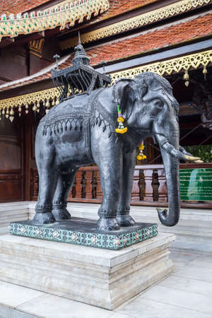 statue: Statue of elephant at Wat Phrathat Doi Suthep, Chiang Mai