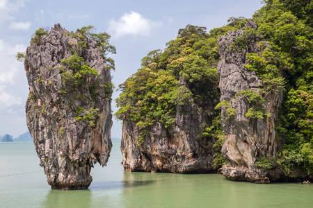 andaman sea: Khao Tapu rock at  Andaman Sea, Thailand