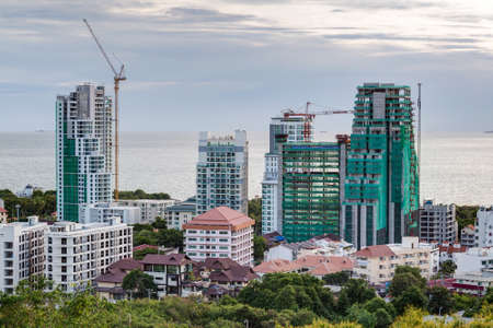 luxury apartment: Construction of new luxury apartment buildings in Pattaya