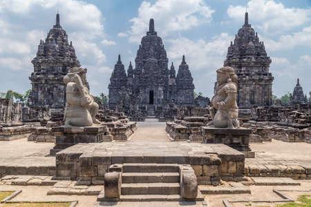 Candi Sewu, onderdeel van Prambanan hindoe-tempel, Indonesië Stockfoto
