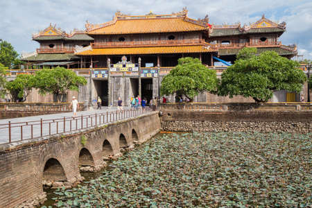 HUE, VIETNAM - CIRCA AUGUST 2015: Entrance  to Imperial Royal Palace of Nguyen dynasty in Hue