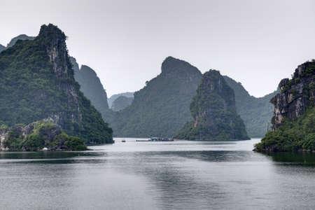halong: Rock formations in Halong Bay, Vietnam