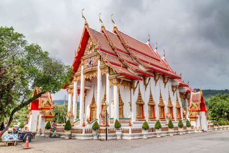 chalong: Wat Chalong or Wat Chaiyathararam, Chalong, Phuket, Thailand Stock Photo