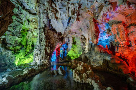 go to: Colorful illumination in Dau Go cave in Halong Bay, Vietnam