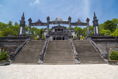 hue: Grand stairs in Imperial Khai Dinh Tomb in Hue, Vietnam