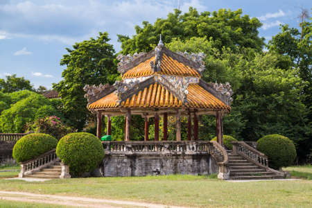 dynasty: Pavilion in Imperial Royal Palace of Nguyen dynasty in Hue Editorial