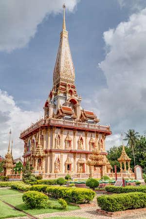 chalong: Wat Chalong or Wat Chaiyathararam, Chalong, Phuket, Thailand Stock Photo
