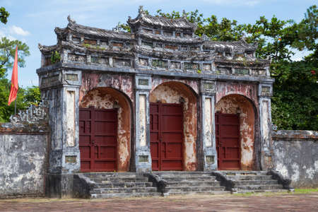 mang: Gate to Imperial Minh Mang Tomb in Hue, Vietnam