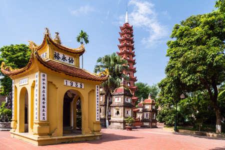 tran: Inside the Tran Quoc Pagoda complex, Hanoi