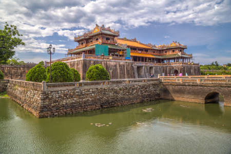 hue: Imperial Royal Palace of Nguyen dynasty in Hue, Vietnam