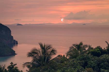 Sunset on Phi Phi Don island, Thailand
