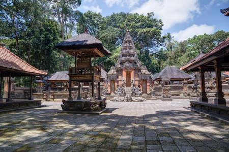 balinese: Balinese temple in Ubud Sacred Monkey Forest on Bali