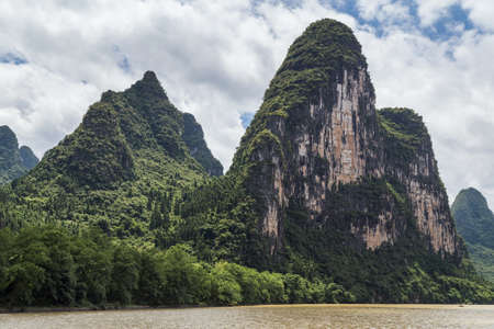 karst: Karst mountains and limestone peaks of Li river in China