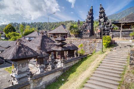 balinese: Stairs and gates in Pura Besakih Balinese temple Stock Photo