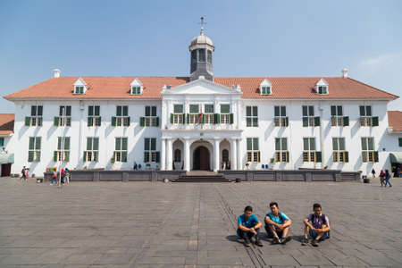 history: Jakarta, Indonesia - circa October 2015: Jakarta History Museum, formerly Stadhuis in Old Town Jakarta