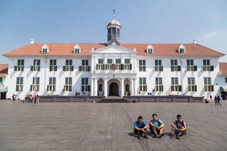 Jakarta, Indonezja - około października 2015: Muzeum Historii Dżakarty, dawniej Stadhuis na Starym Mieście w Dżakarcie Publikacyjne
