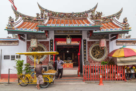 Georgetown, Penang/Malaysia - circa October 2015: Cheng Hoon Teng chinese buddhist temple in Georgetown, Penang, Malaysia