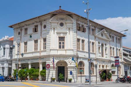 colonial building: Georgetown, PenangMalaysia - circa October 2015: British colonial building in Georgetown, Penang, Malaysia