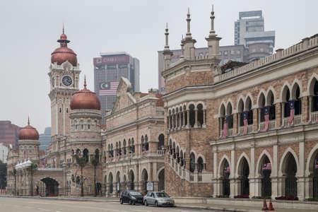 malaysia culture: Kuala Lumpur, Malaysia - circa October 2015: Sultan Abdul Samad Building, Merdeka Square, Kuala Lumpur Editorial