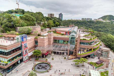 entertainment center: Hong Kong, China - circa September 2015: The Peak Galleria shopping mall and entertainment center on top of Victoria Peak in Hong Kong