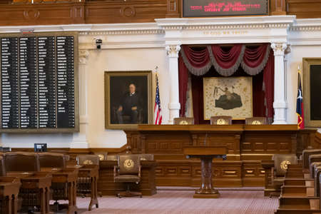 Austin, TXUSA - circa February 2016: House of Representatives Chamber in Texas State Capitol in Austin, TX