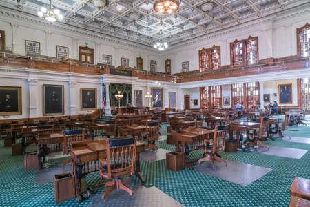 legislature: Austin, TXUSA - circa February 2016: Senate Chamber in Texas State Capitol in Austin, TX Editorial