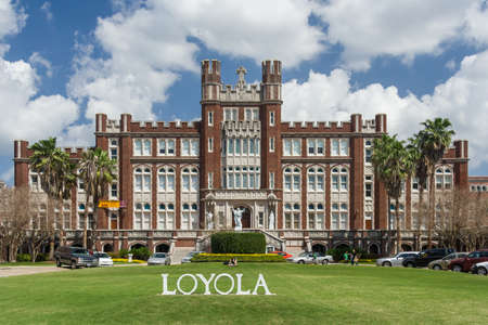 jesuit: New Orleans, LAUSA - circa March 2009: Main building and entrance to Loyola University in New Orleans, Louisiana Editorial