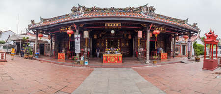 Georgetown, PenangMalaysia - circa October 2015: Panorama of Cheng Hoon Teng chinese buddhist temple in Georgetown, Penang, Malaysia