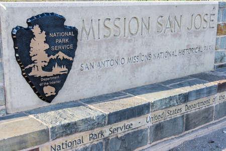 jose: San Antonio, TXUSA - circa February 2016: Mission San Jose in San Antonio, Texas Editorial