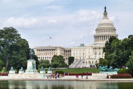 ulysses s  grant: Washington, DCUSA - circa July 2015: Capitol Reflecting Pool, Ulysses S. Grant Memorial, and Capitol in Washington, DC