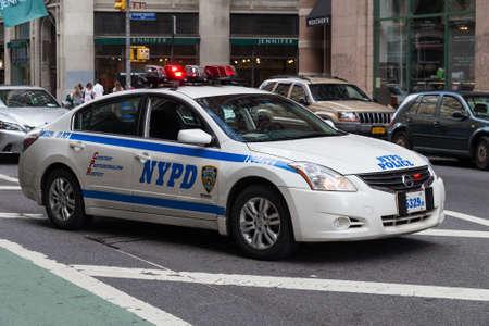 ニューヨーク市、ニューヨークアメリカ合衆国 - 2015年 7 月年頃: ニューヨークの警察車