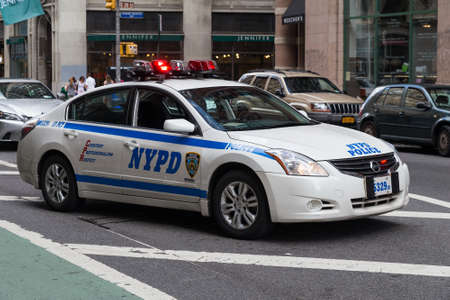 New York City, NY/USA - circa July 2015: Police car in New York