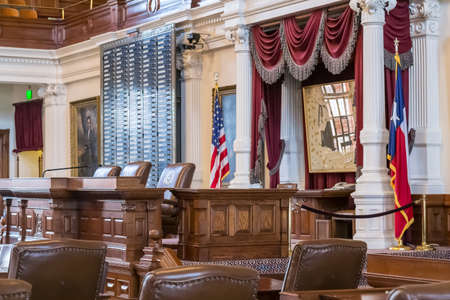tx: Austin, TXUSA - circa February 2016: House of Representatives Chamber in Texas State Capitol in Austin, TX