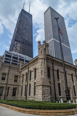 john hancock: Chicago, ILUSA - circa July 2015: John Hancock Center and Water Tower Place in Chicago, Illinois Editorial