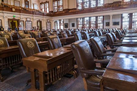 legislature: Austin, TXUSA - circa February 2016: House of Representatives Chamber in Texas State Capitol in Austin, TX