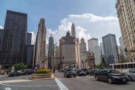 michigan avenue: Chicago, ILUSA - circa July 2015: North Michigan Avenue of Downtown Chicago, Illinois