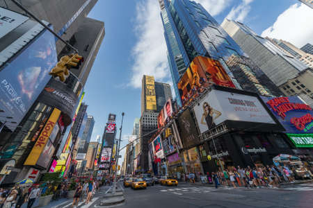 New York City, NYUSA - circa July 2013: Time Square in New York City Editorial