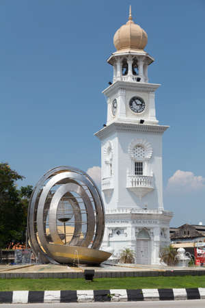 queen victoria: Georgetown, PenangMalaysia - circa October 2015: Queen Victoria Memorial Clocktower in Georgetown, Penang, Malaysia