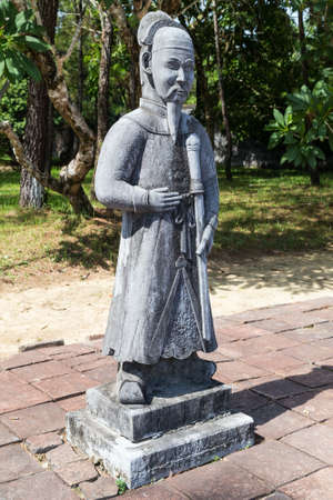 mang: Old statue in Imperial Minh Mang Tomb in Hue