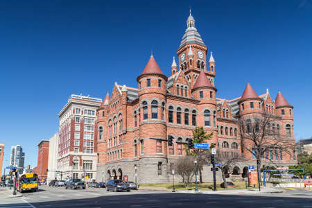 see the usa: Old Red Museum, formerly Dallas County Courthouse in Dallas, Texas Editorial