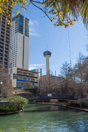 the americas: Tower of the Americas and River Walk in San Antonio, Texas