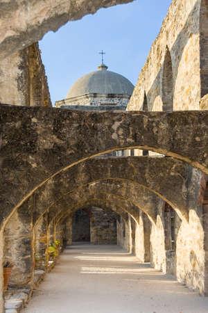 san jose: Ruins of Convento and Arches of Mission San Jose in San Antonio, Texas Editorial