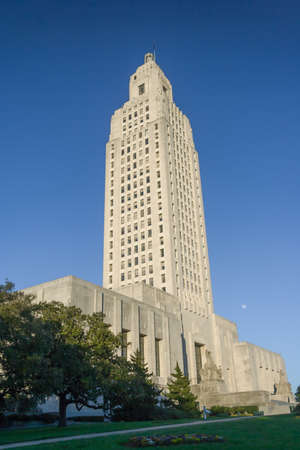 rouge: Louisiana State Capitol in Baton Rouge, LA Stock Photo