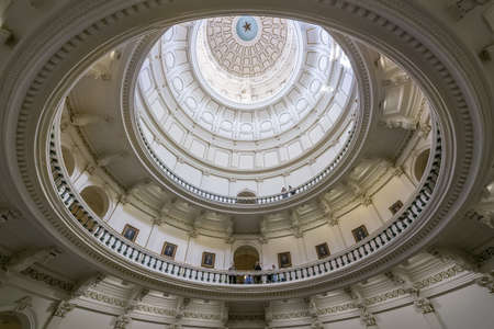 tx: The domes interior of Texas State Capitol in Austin, TX