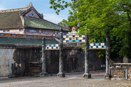 hue: Gate in Imperial Royal Palace of Nguyen dynasty in Hue