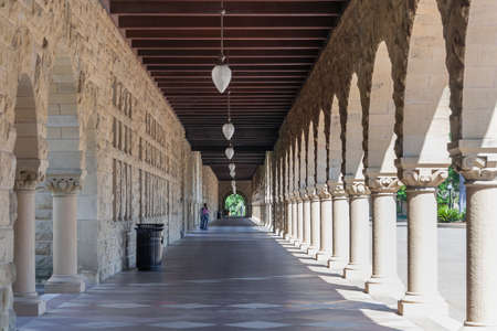 Palo Alto, CA/USA - circa June 2011: Galleries of Stanford University Campus in Palo Alto, California