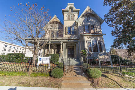 jackson: Jackson, MSUSA - circa February 2016: Old Colonial house on Congress Avenue in Jackson, Mississippi Editorial