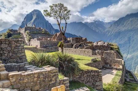 machu picchu: Machu Picchu, Aguas CalientesPeru - circa June 2015: Ruins of Machu Picchu sacred lost city of Incas in Peru Editorial