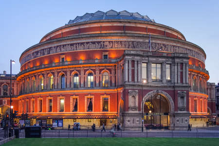 London, UK - circa March 2012: Royal Albert Hall in London at evening